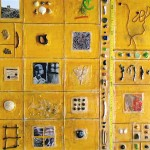 "Beachcombing: Memorial, Beeswax encaustic & mixed media on wood, 2007, 24"" x 24"" x 2"""