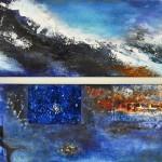"Acrylic & mixed media on canvas, 2009, 12"" x 20"" x 1"""
