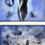 "Acrylic & mixed media on canvas, 2009, 6"" x 12"" x 1"""