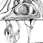 "Black ink on paper, 2004, 6"" x 10"""
