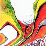 """Coloured ink on paper, 2003, 3.5"""" x 5"""""""