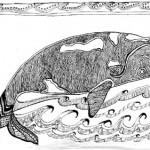 "Black ink on paper, 2003, 6.5"" x 4"""