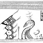 "Black ink on paper, 2003, 8"" x 5.5"""