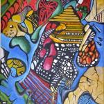 """Acrylic on canvas, 2008, 12""""x16"""""""