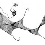 "Black ink on paper, 2003, 6"" x 4"""