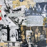 """Collaged paper on wood, 2012, 12""""x48""""x2"""""""