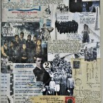 """Collage papers on wood, 2012, 12""""x24""""x2"""""""