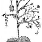 "Black ink on paper, 2003, 6.5"" x 10"""