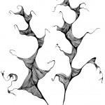 "Black ink on paper, 2009, 8"" x 10"""