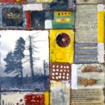 "Memory Transfer: Tree of Life, Beeswax encaustic & mixed media on wood, 2013, 11"" x 14"" x 1"" (SOLD)"