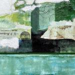 "Castle Ruins, Acrylic Mixed Media on Canvas, 2020, 16"" x 20"" x .5"""