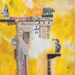 "Colonial Feminist Manifesto, Acrylic & Collage on Canvas, 2021, 8"" x 10"" x .5"""