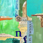 """Mapping the New World #3, 2021, 8"""" x 10"""" x .5"""""""
