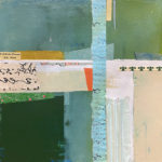 """Mapping the Land, Acrylic & Collage on Masonite, 2020, 9"""" x 9"""" x 1"""""""