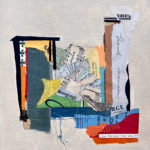 """Japanese Ruins, Acrylic & Collage on Canvas, 2021, 8"""" x 10"""" x .5"""""""